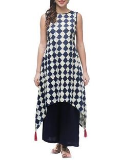 62a4d12d2e Simple Kurta Designs, Kurta Designs Women, Printed Kurti Designs, Tunic  Designs, Cotton