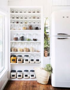 4 Profound Tips AND Tricks: Small Kitchen Remodel Mobile Home kitchen remodel lighting open shelving.Kitchen Remodel Dark Cabinets mid century kitchen remodel home. Home Decor Kitchen, Diy Kitchen, Kitchen Interior, Kitchen Pantry, Open Pantry, Awesome Kitchen, Kitchen Ideas, Decorating Kitchen, Beautiful Kitchen