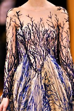 Haute Couture, love the branch effect