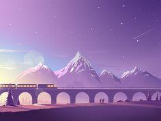 Train Crossing  2X always better   Cheers!   Twitter  | Instagram | Behance | Facebook