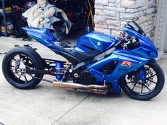 My Son's GSXR 1000 drag bike