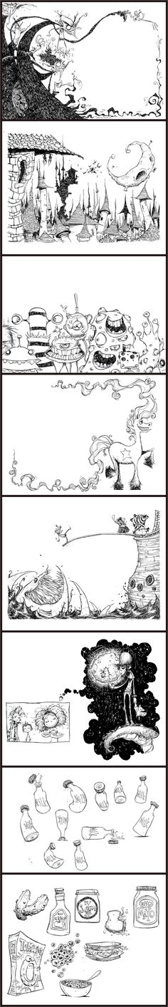 """Skottie Young: illustrations for Neil Gaiman's """"Fortunately The Milk"""""""