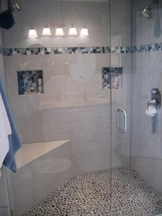 Shower tile designs- really toying with doing the pebble floor