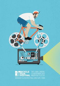 Cartaz da bicicleta Festival de Cinema de Alistair Palmer http://www.usebristol.com.br/