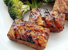 Smoky Grilled Tofu With Hoisin Sauce Recipe Grill tofu in a tangy hoisin-based sauce for a vegetarian and vegan barbecue dish. Prepare the dish in advance so the tofu can marinade for several hours. Barbecue Tofu Recipes, Grilling Recipes, Cooking Recipes, Grilling Ideas, Barbecue Sauce, Cooking Tips, Barbecue Ribs, Grilled Tofu Recipes, Barbecue Chicken