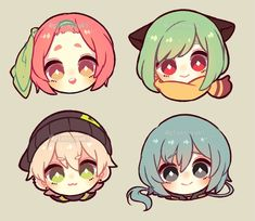 these adorable chibis will make your day! Manga Kawaii, Kawaii Chibi, Kawaii Art, Anime Chibi, Drawing Base, Manga Drawing, Kawaii Drawings, Cute Drawings, Pelo Anime
