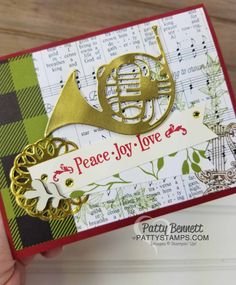 Merry Music French Horn Christmas Card idea
