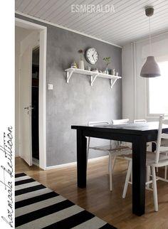 Harmaampi keittiö | Esmeralda's Kings Home, Scandinavian Style, Living Area, Dining Bench, Sweet Home, Shelves, Interior Ideas, Wall, Modern
