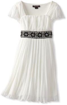My Michelle Girls 7-16 Emma Dress, Ivory - Maybe for flower girl?
