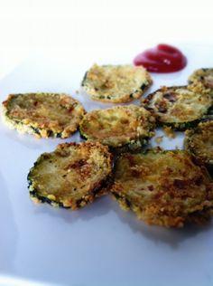 Skinny Breaded Zucchini Chips (gluten free)