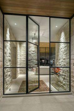 Creative Glass Door Ideas Designs For The Dynamic Modern Home Rehme Steel Windows & Doors Steel Windows, Windows And Doors, Iron Windows, Bay Windows, Design Exterior, Interior And Exterior, Interior Doors, Luxury Interior, Double Doors Interior