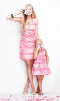what kind of mother on earth wears similar clothes to her daughter? insane.