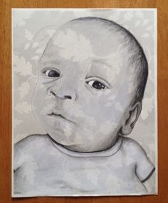 Portrait drawing of a friends new offspring!