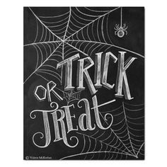Trick or Treat Halloween Decor (Print)