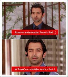 #Arnav before and after being married lol #birgaripask