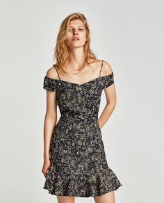 FLORAL DRESS WITH EXPOSED SHOULDERS-View all-DRESSES-WOMAN   ZARA United States