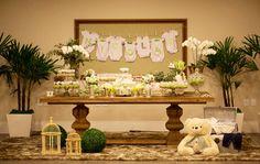 Chá de bebê menino - mesa de doces
