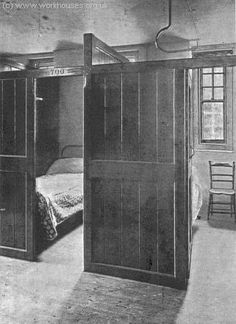 Bedroom cubicle at Hammersmith Rowton House, 1899 Victorian London, Vintage London, Old London, Victorian Era, London History, British History, 19th Century London, Victoria Reign, London Pictures
