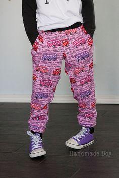 Pink bus lounge pants