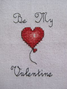 Be My Valentine Cross Stitch Pattern