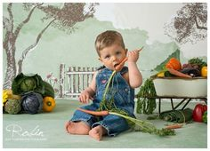 Garden Veggies cake smash session, Peter Rabbit