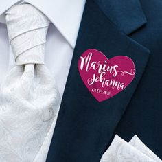 Hochzeit Anstecker ohne Nadel