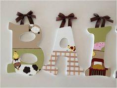 HandPainted Nursery Letters Nojo Farm Babies by RachelRaeDesigns, $18.00