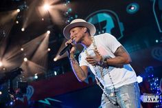 Pharrell onstage during iHeartRadio Jingle Ball 2014, hosted by Z100 New York at Madison Square Garden on December 12, 2014 in New York City. (Photo: Andrew Swartz for iHeartRadio)