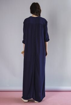 SHIRT-DRESS ART MIDNIGHT BLUE | Rodebjer