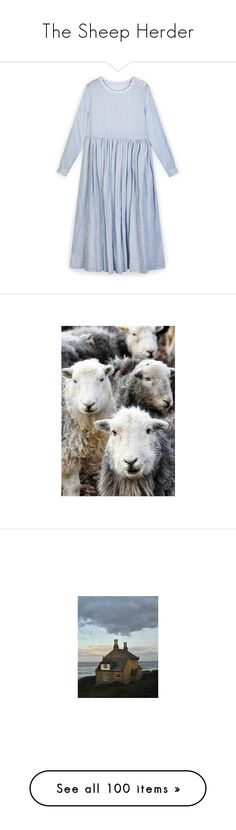 """The Sheep Herder"" by silentmoonchild ❤ liked on Polyvore featuring dresses, checked dress, blue color dress, blue day dress, blue checked dress, blue checkered dress, jewelry, watches, photos and backgrounds"