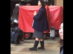 "Outlander season 3 "" pregnant Claire"" BTS picture @outlanderamerica"