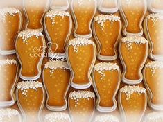Craft beer decorated cookies using royal icing