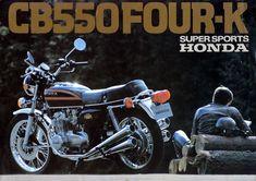 1977 Honda CB550K in black