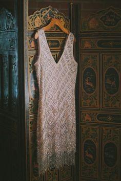 Art Deco reception dress