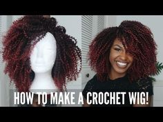 How to make a Ombre Burgundy Crochet Wig | Elevate Styles - YouTube
