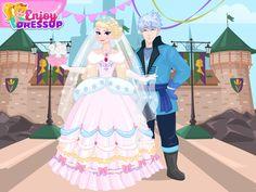 design your frozen Queen wedding dress 1of2. Queen Elsa and King Hans.