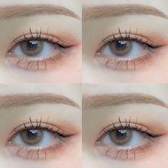 Makeup Korean Style, Korean Eye Makeup, Korea Makeup, Makeup Inspo, Makeup Inspiration, Makeup Tips, Beauty Makeup, Hair Makeup, Makeup Eye Looks