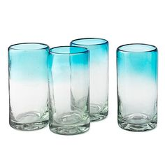 Ombre glasses. Fill with gin & tonic, sip, repeat  #BHGSummer