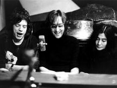 Mick Jagger, John Lennon and Yoko - Bob Gruen