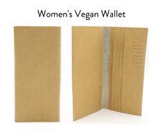 Note Holders, Card Holders, Vegan Wallet, Change Maker, Kraft Paper, Wallets For Women, Eco Friendly, German, Notes