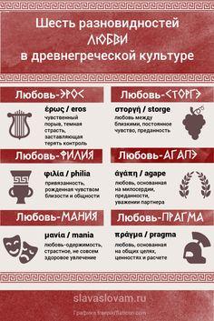 Шесть видов любви в древнегреческой культуре