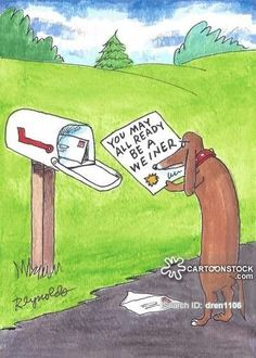 Dachshund funny cartoons from CartoonStock directory - the world's largest on-line collection of cartoons and comics. Dachshund Funny, Dachshund Art, Funny Dogs, Cute Dogs, Funny Animals, Daschund, Dachshund Puppies, Dachshund Gifts, Dachshund Drawing