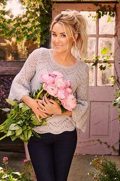 Get Lauren's eyelet popover sweater, part of the September LC Lauren Conrad…