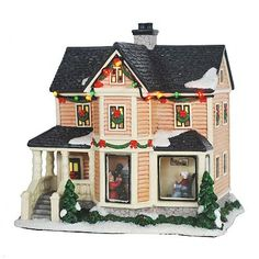 St. Nicholas Square® Village Collection Decorating the Tree