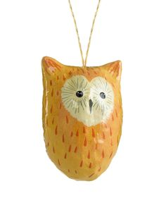 Heart of Haiti Paper Mache Owl Ornament, $17.00