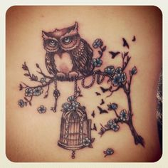 Purple Owl Tattoo: want the mama and two baby owls. Description from pinterest.com. I searched for this on bing.com/images