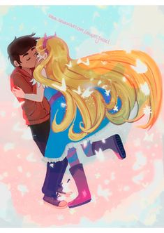 Marco Diaz and Star Butterfly from Star vs the forces of Evil cartoon. (starco) they are canon, i always liked their friendship. Gravity Falls, Lilo Stitch, Starco Comics, Adventure Time, Full Metal Alchemist, Pikachu, Anime Stars, Nerd, Star Butterfly