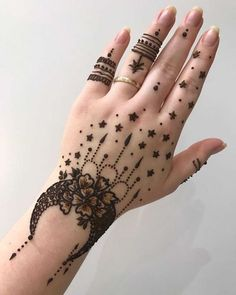 Beautiful Eid Mehndi Designs 2019 - Images & Videos After the holy month of fasting comes Eid, the fest of joy, feasts, glam & mehndi adorned hands! Check out beautiful eid mehndi designs 2019 for some inspo! Henna Tattoo Designs, Mehndi Tattoo, Henna Tattoo Muster, Mehndi Designs Finger, Latest Bridal Mehndi Designs, Mehndi Designs For Beginners, Mehndi Designs For Girls, Mehndi Design Photos, Henna Tattoos