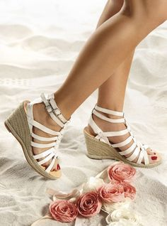 White Trouble Sandals