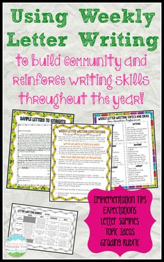 Using Weekly Letter Writing In the Classroom